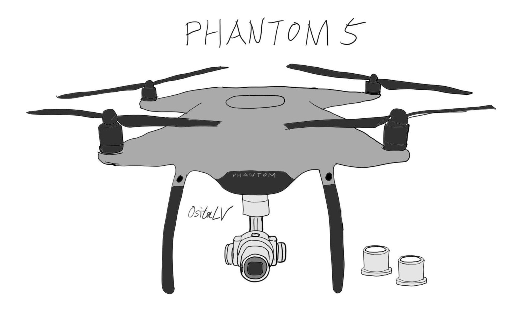 Phantom 5 com case em alumínio
