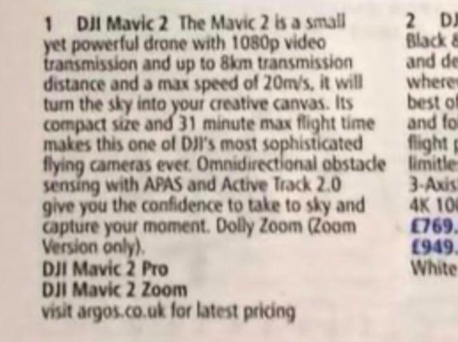 DJI Mavic 2 Pro e Mavic 2 Zoom